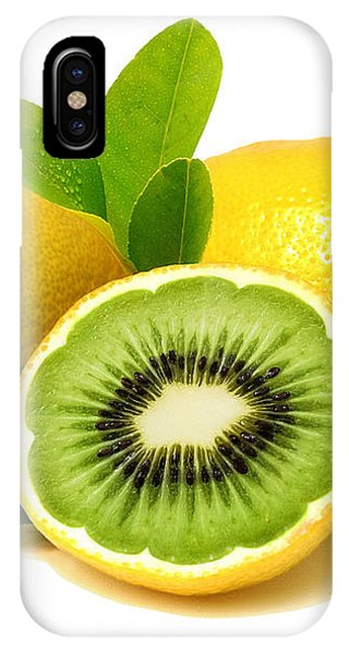 IPhone Case featuring the digital art Lemon Kiwi by ISAW Company
