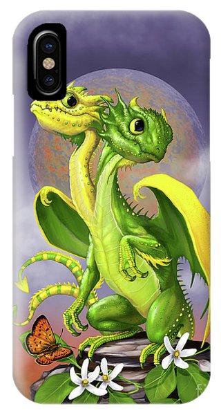 Lemon Lime Dragon IPhone Case