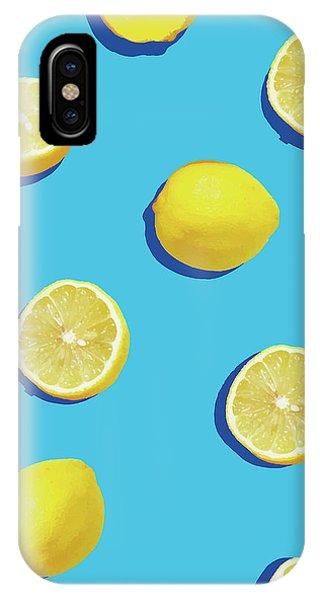 Lemon iPhone Case - Lemon Pattern by Rafael Farias