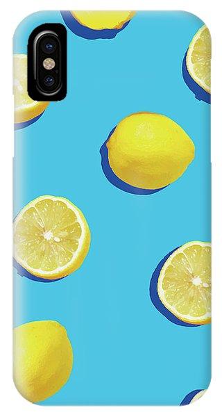 Yellow iPhone Case - Lemon Pattern by Rafael Farias