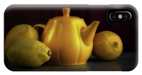 Kettles iPhone Case - Lemon Yellow by Tom Mc Nemar