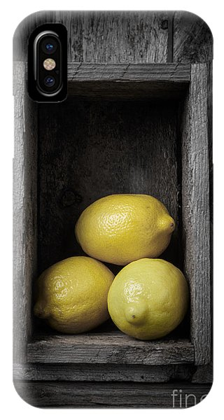 Lemon iPhone Case - Lemons Still Life by Edward Fielding