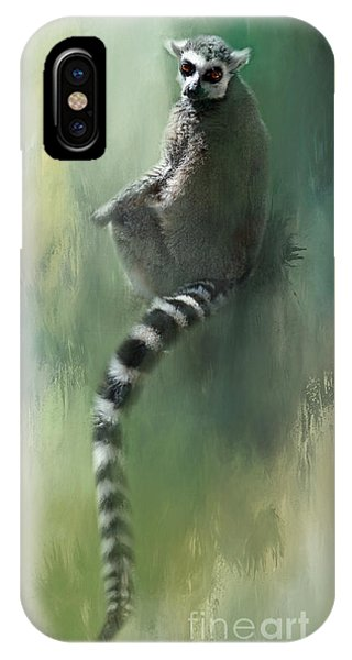 Lemur Catching Rays IPhone Case