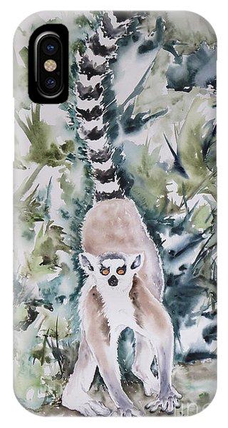 Ring-tailed Lemur iPhone Case - Lemur Catta by Krista Timberlake