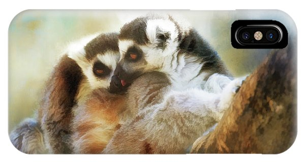 Lemur Cuddle IPhone Case