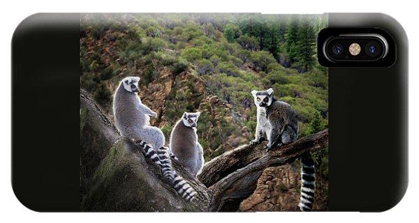 Lemur Family IPhone Case
