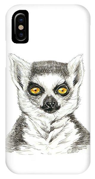 Ring-tailed Lemur iPhone Case - Lemur by Katerina Kirilova