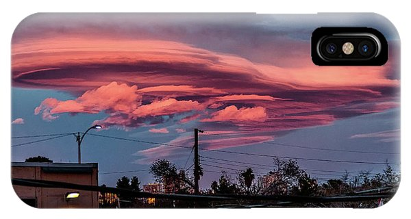 IPhone Case featuring the photograph Lenticular Cloud Las Vegas by Michael Rogers