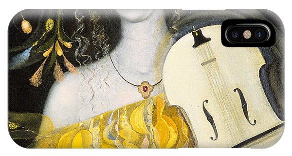 Violin iPhone X Case - Leo by Annael Anelia Pavlova