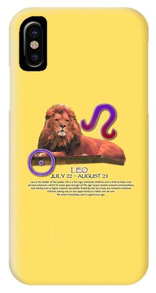 Leo Sun Sign IPhone Case