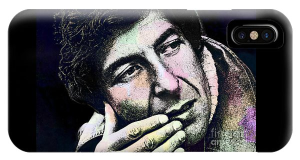 Leonard Cohen - Drawing Tribute IPhone Case