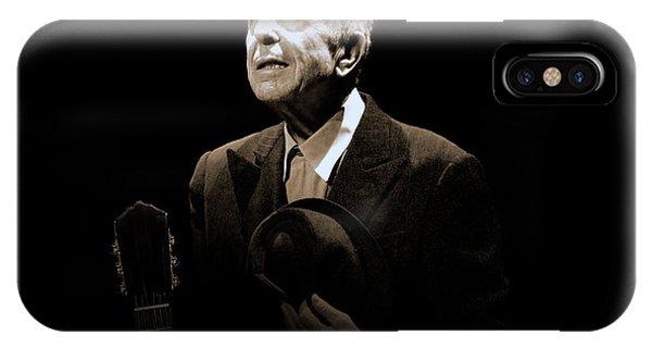 Portrait Of Leonard Cohen IPhone Case