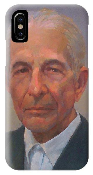 Leonard Cohen Phone Case by Mike Hanlon