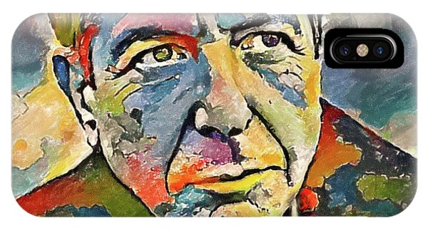 Tribute iPhone Case - Leonard Cohen Tribute 3 by Yury Malkov
