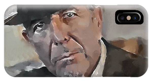 Tribute iPhone Case - Leonard Cohen Tribute 4 by Yury Malkov