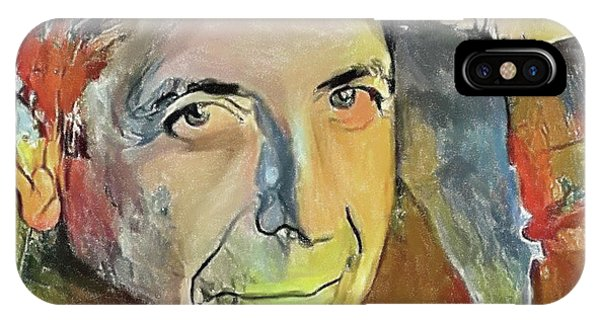 Tribute iPhone Case - Leonard Cohen Tribute 6 by Yury Malkov