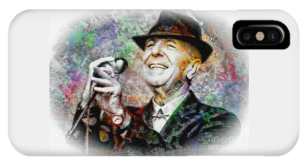 Leonard Cohen - Tribute Painting IPhone Case