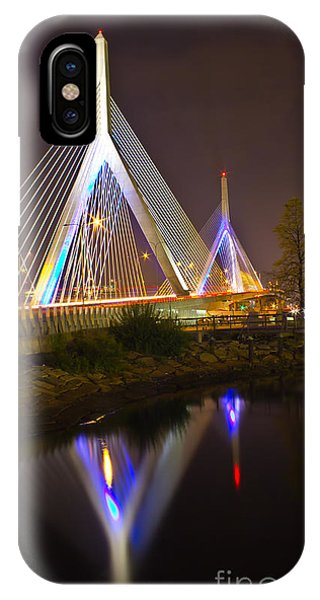 Leonard P. Zakim Bunker Hill Bridge Reflection IPhone Case