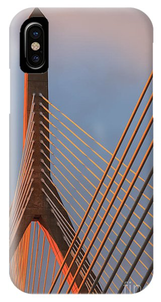 Zakim Bridge iPhone Case - Leonard P. Zakim Bunker Hill Memorial Bridge, Boston by Henk Meijer Photography