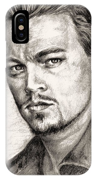 Leonardo Dicaprio Portrait Nr.2 IPhone Case