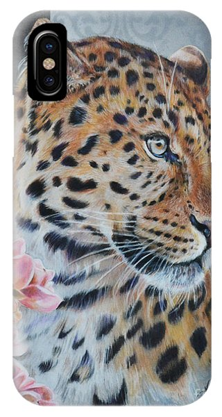 Leopard And Roses IPhone Case