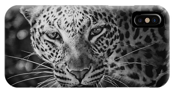 Leopard, Black And White IPhone Case