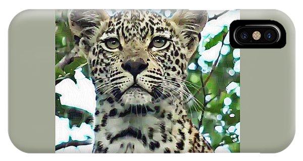 Leopard Face IPhone Case