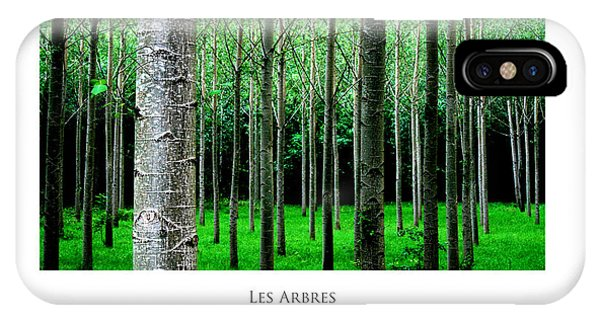 IPhone Case featuring the digital art Les Arbres by Julian Perry