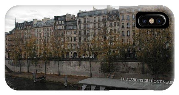 Les Jardins Du Pont Neuf IPhone Case