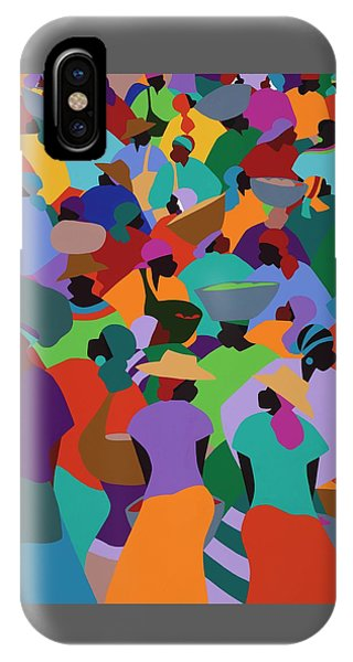 iPhone X Case - Les Palmes Market Haiti by Synthia SAINT JAMES
