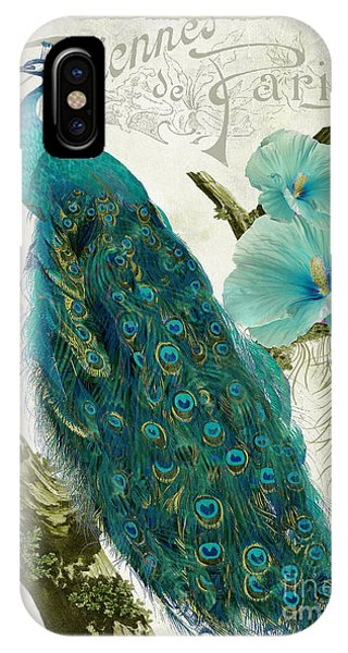 Peacock iPhone Case - Les Paons by Mindy Sommers