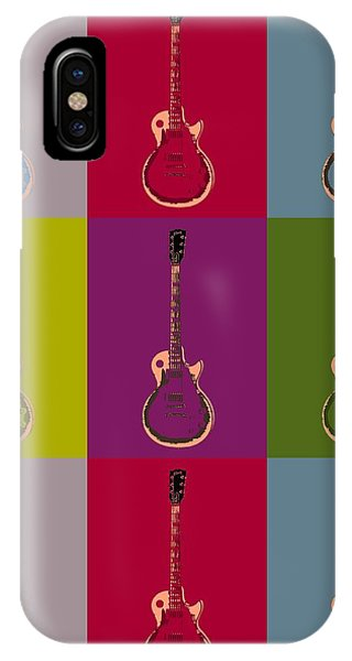 Rock And Roll Jimmy Page iPhone Case - Les Paul Colorful Poster by Dan Sproul