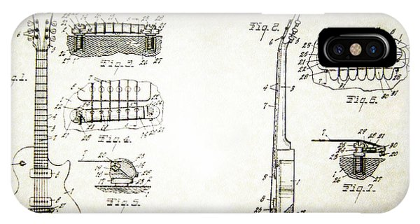 Les Paul Guitar Patent 1955 IPhone Case