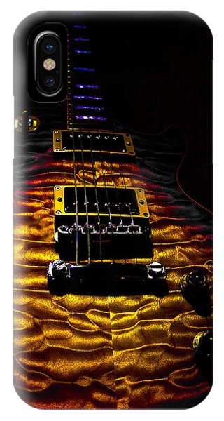 Tri-burst Quilt Top Guitar Spotlight Series IPhone Case