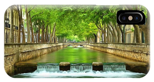 Les Quais De La Fontaine Nimes IPhone Case