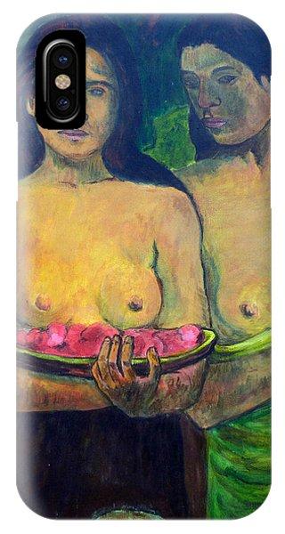Les Seins Aux Fleurs Rouges IPhone Case