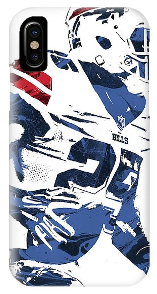 Lesean Mccoy Buffalo Bills Pixel Art 3 IPhone Case