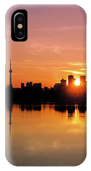 IPhone Case featuring the photograph Leslie Street Spit Toronto Canada Sunset by Brian Carson