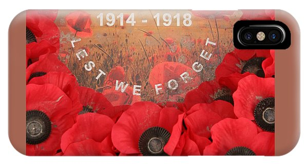 Lest We Forget - 1914-1918 IPhone Case