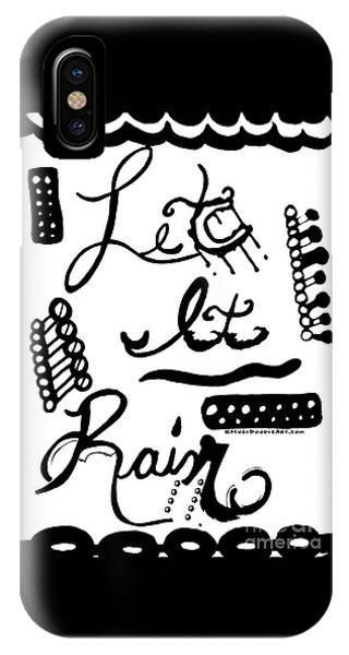 IPhone Case featuring the drawing Let It Rain by Rachel Maynard
