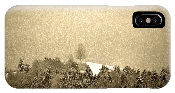 Let It Snow - Winter In Switzerland IPhone Case