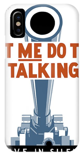 Americana iPhone Case - Let Me Do The Talking by War Is Hell Store