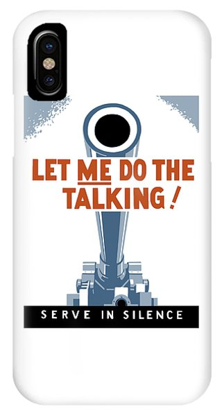 Political iPhone Case - Let Me Do The Talking by War Is Hell Store