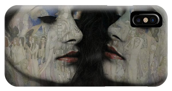 Lust iPhone Case - Let The Dream Begin Let Your Darker Side Give In  by Paul Lovering