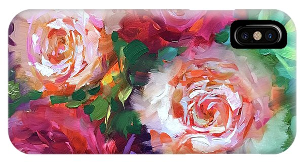 iPhone Case - Let The Joy In Roses And Peonies by Nancy Medina
