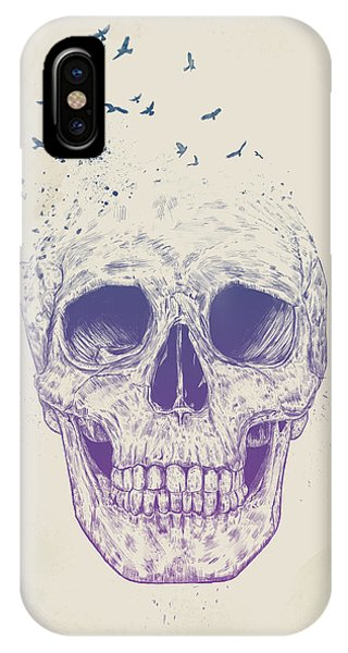 Skull iPhone Case - Let Them Fly by Balazs Solti