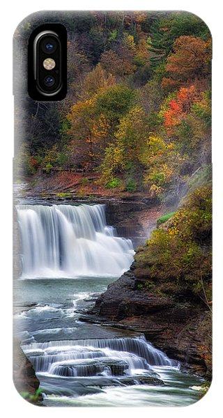 Letchworth Lower Falls 3 IPhone Case