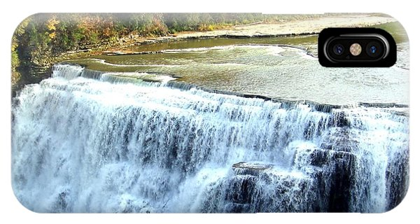 Letchworth State Park Middle Falls Autumn IPhone Case