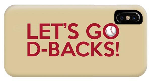 Let's Go D-backs IPhone Case