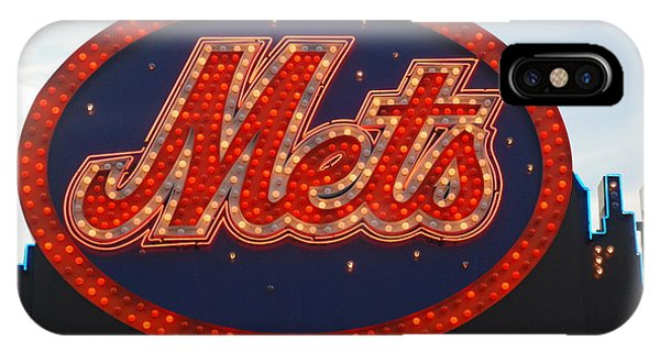 New York Mets iPhone Case - Lets Go Mets by Richard Bryce and Family